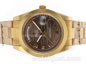 Replica Rolex Day Date Ii Automatic Full Gold Number Markers